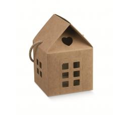 """Подарочная коробка """"Домик"""", крафт (8X8X7,5 cm)"""