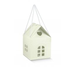"Подарочная коробка ""Домик"", цвета шампанского (10 X10 X9 cm)"