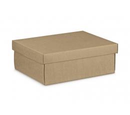 Подарочная коробка, с крышкой, крафт  (34X25X12 cm)
