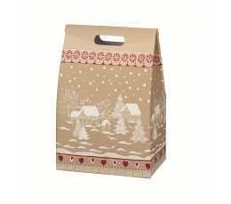 "Подарочная коробочка ""Снежный домик"" (28 х 20 х 41 см)"