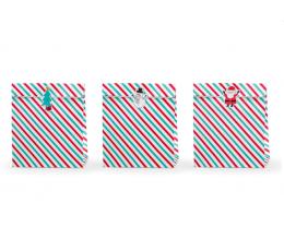 """Подарочные мешочки """"Рождество"""", бумажные (3 шт/25x27 cm)"""