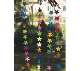 """Подвесная декорация """"Разноцветные цветы"""" (2 м)"""
