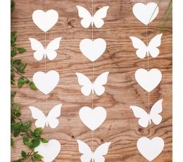 "Подвесная декорация  ""Бабочки и сердечки"" (2 м)"