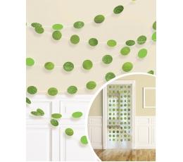 Подвесные декорации, блестящие -салатового цвета (6 шт/ 2,13 м)