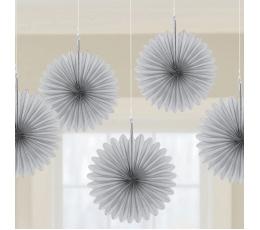 Подвесные декорации, серые вееры (5 шт)