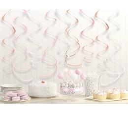 """Подвесные декорации """"Спирали"""", цвета розового золота (12 шт)"""