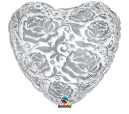 Прозрачный шар с цветочным рисунками (61 см)