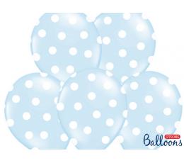 Резиновый шарик, голубой в горошек (30 см)