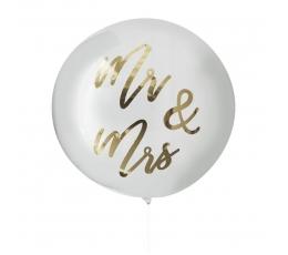 """Резиновый шарик орбз """"Mr&Mrs"""", прозрачный (91 см)"""