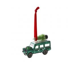 """Рождественское украшение """"Зеленый джип"""""""