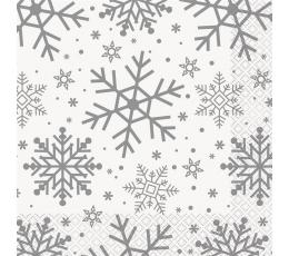 """Салфетки """"Блестящие снежинки"""" (16 шт)"""