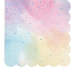 Салфетки, розовый -перламутр (16 шт)