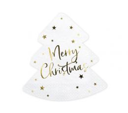 "Салфетки в форме елки ""Merry Christmas"" (20 шт)"