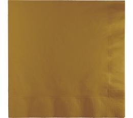 Салфетки, золотого цвета (50 шт)