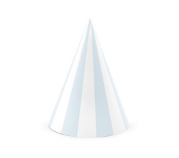 Шапочки, голубые -белые в полоску (6 шт)