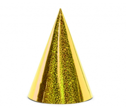 Шапочки, золотые - блестящие (6 шт)