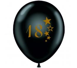 """Шарик """"18"""", черный (30 см)"""