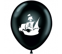 """Шарик """"Пираты - черно белый"""" (30 см)"""