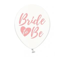 """Шарики,""""Bride to be"""", прозрачные с розовой надписью (6 шт/ 30 см)"""
