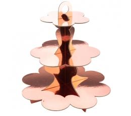 Штатив для сладостей, розового золота