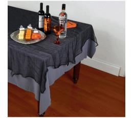 Скатерть из марлевой ткани, черный (152x213 cm)