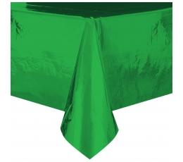 Скатерть, зеленая блестящая (137 x 274 см )