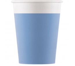 Стаканчики, голубые (8 шт/ 200 мл), компостируемые