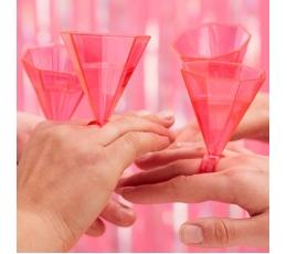 Стаканчики в форме колечка, розового цвета (6 шт)
