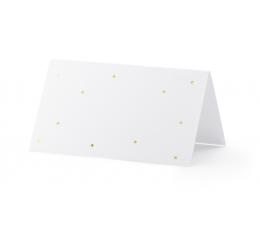 Настольные карточки, в золотой горошек (10 шт)