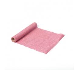 Столовая дорожка с блестками, розовый (30х300 см)