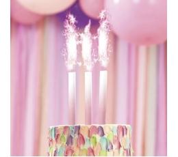 Свеча для торта, фонтан - омбре (1 шт.)