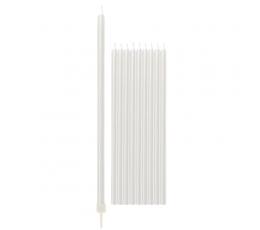 Свечи, белые перламутровое -длинные (10 шт/ 15 см)