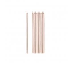 Свечки для торта, розово-золотой цвет (10 шт./ 15 см)