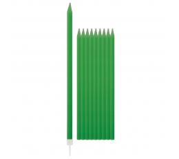 Свечки, зеленые длинные (10 шт/ 15 см)