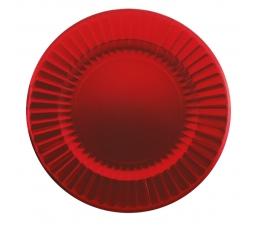 Тарелки - подставки, красные- блестящие (6 шт/ 33 см)