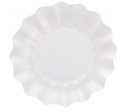 Тарелки-цветы, белые перламутра (8 шт/ 27 см)