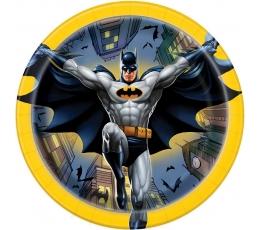 """Тарелочки """"Бэтмен"""" (8 шт/ 17 см)"""