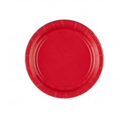 Тарелочки, красные (20 шт/ 17 см)