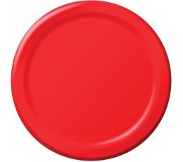 Тарелочки , красные  (8 шт/22 см)