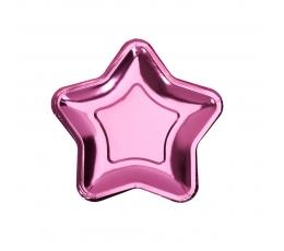 """Тарелочки """"Розовые звездочки"""", форменные (8 шт/ 18 см)"""