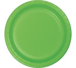 Тарелочки, салатовые (8 шт/ 17 см)