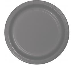 Тарелочки, серые -матовые (24 шт/18 см)