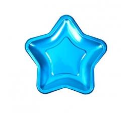 "Тарелочки ""Синие звездочки"", форменные (8 шт/ 18 см)"