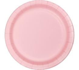 Тарелочки, светло розовые (8 шт/ 17 см)