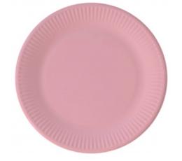 Тарелочки, светло розовые (8 шт/ 23 см), компостируемые