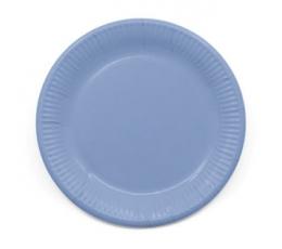 Тарелочки, светло синие (8 шт/ 23 см), компостируемые