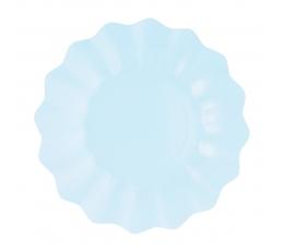 Тарелочки-цветы, голубые (8 шт/ 21 см)-эко