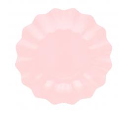 Тарелочки-цветы, светло розовые (8 шт/ 21 см)-экo