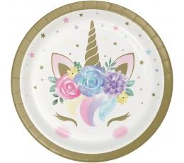"""Тарелочки """"Unicorn Baby"""" (8 шт/ 17 см)"""