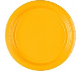 Тарелочки , желтые (8 шт/22 см)